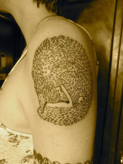 Shoulder Fox Tattoo