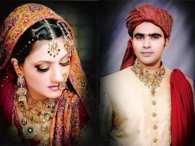 Pakistani Couple Wedding Dress