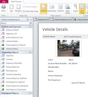 Mencetak Tabel Pada MS Access 2010