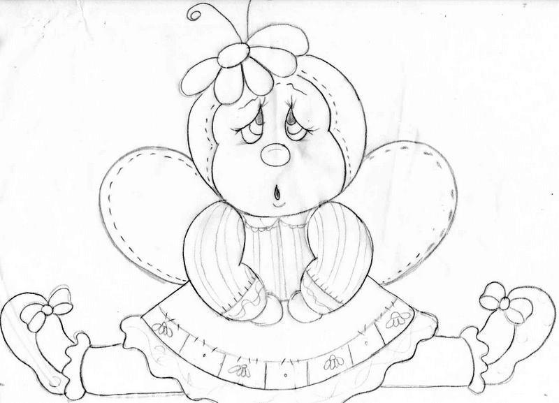 Para salvar, imprimir ou ampliar o amanho do molde de joaninha, clicar