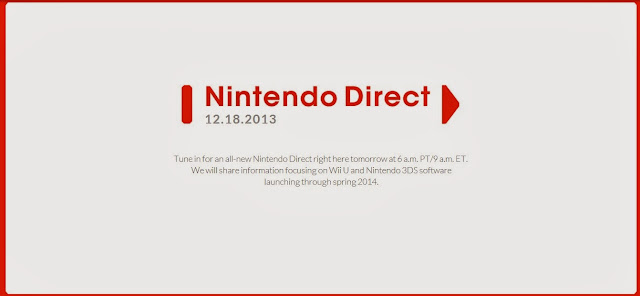 Nintendo Direct scheduled for December 17th, 2013