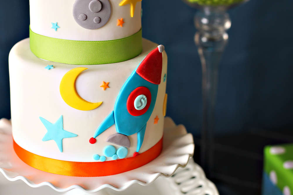 My life outer space party for Outer space cake design