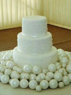Tortas de Boda con Perlas, parte 1