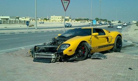 Ford Gt Crashed In Qatar