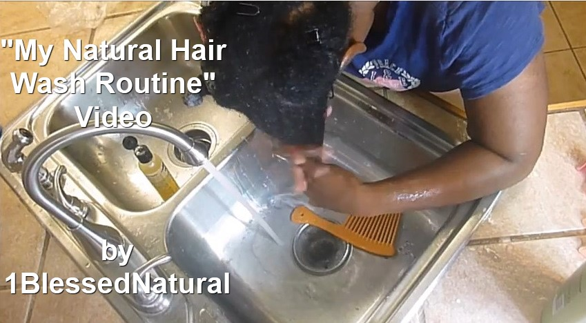 Copyright 2015- 1BlessedNatural- My Natural Hair Wash Routine