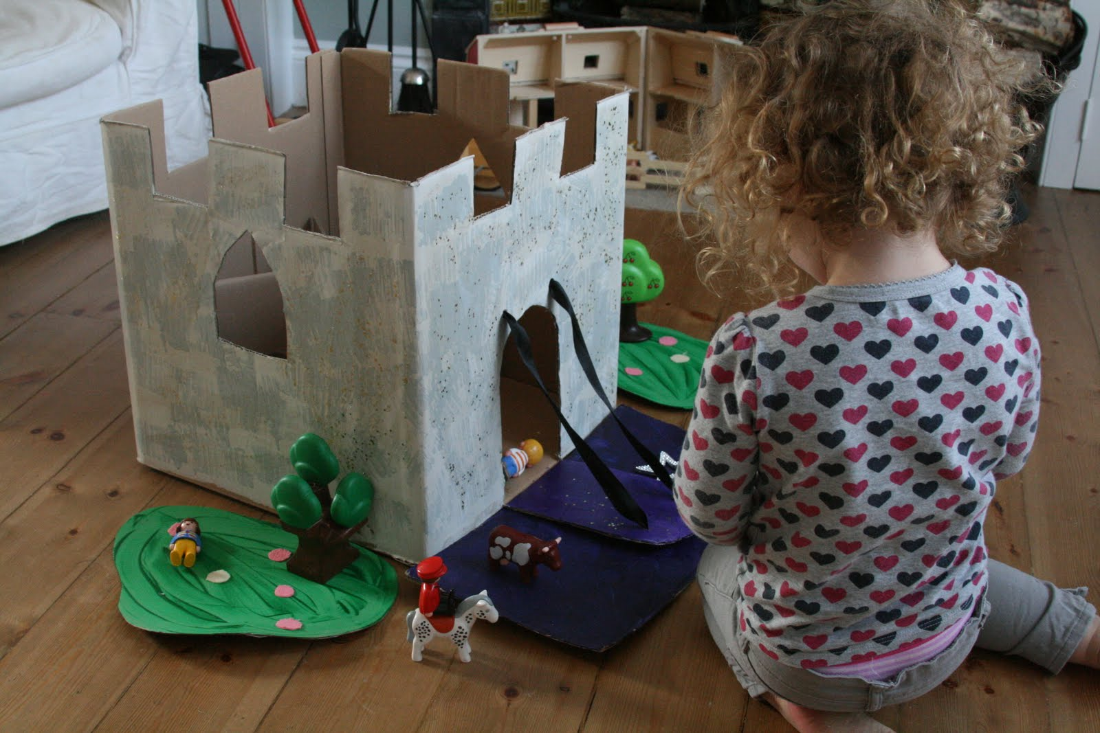 Diy castle story box the imagination tree for Castle made out of cardboard boxes