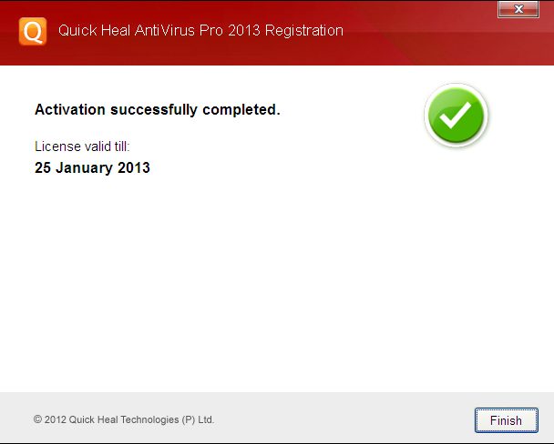 quick heal 2013 activation key