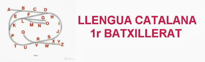 LLENGUA CATALANA 1r BATXILLERAT
