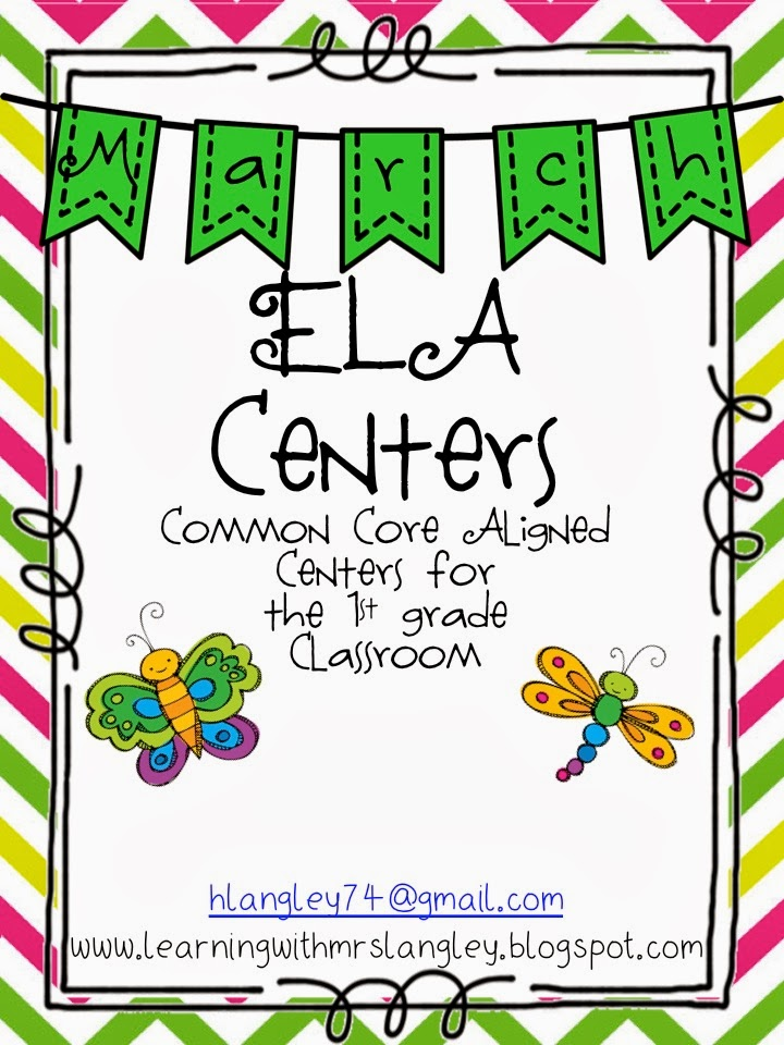 http://www.teacherspayteachers.com/Product/March-ELA-Centers-1128396