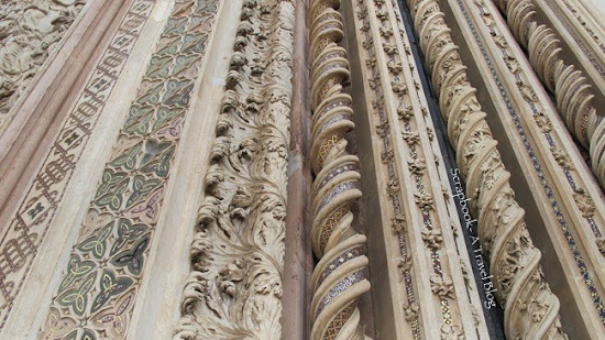 Wall decoration Orvieto Cathedral Italy