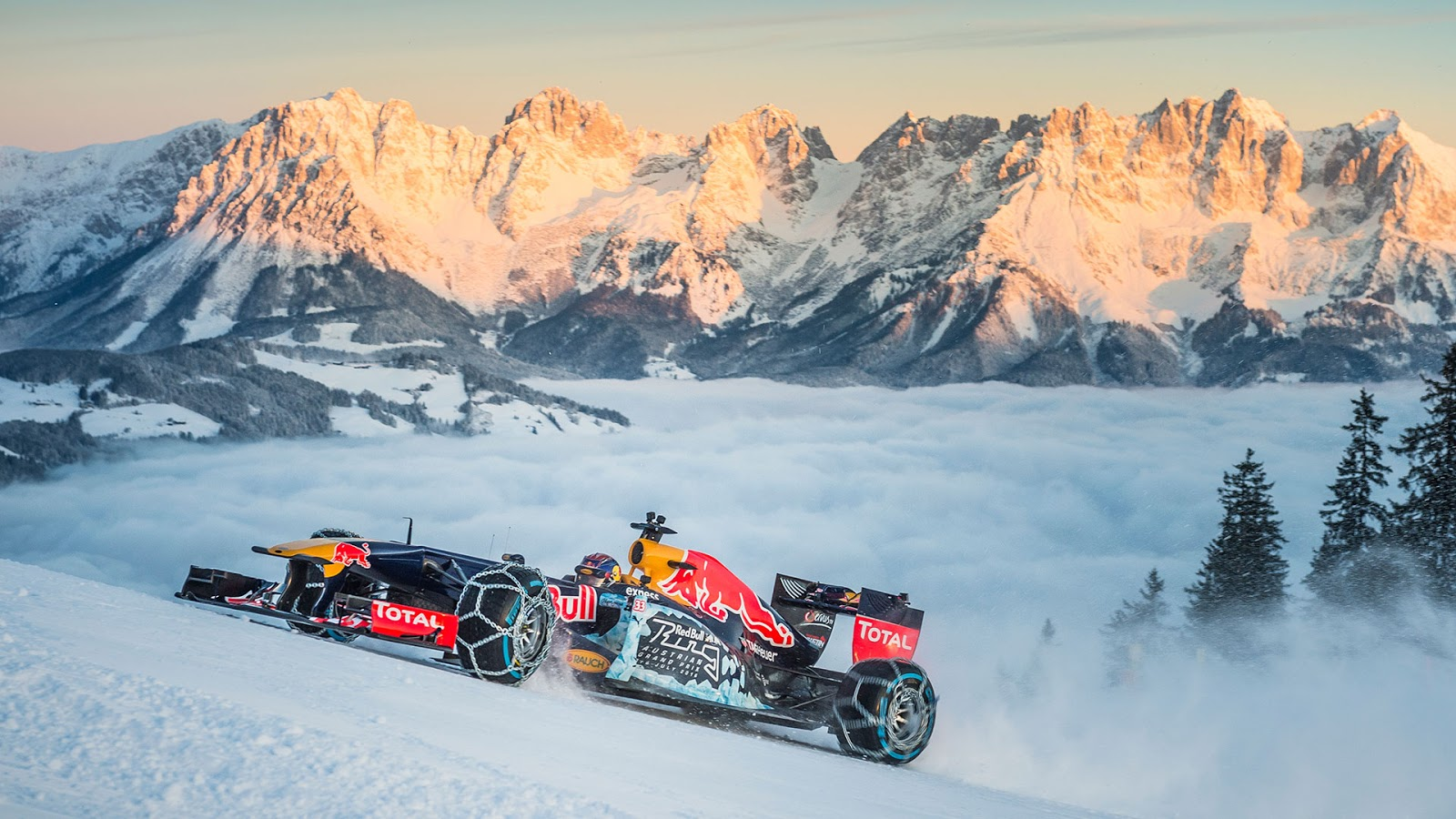 Red Bull F1 On The Ski Slopes