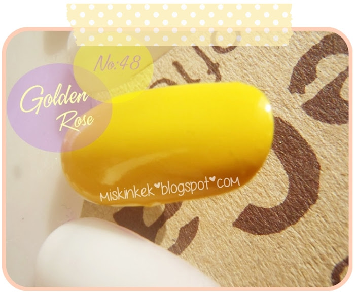 Golden Rose Rich Color Sarı Oje 48