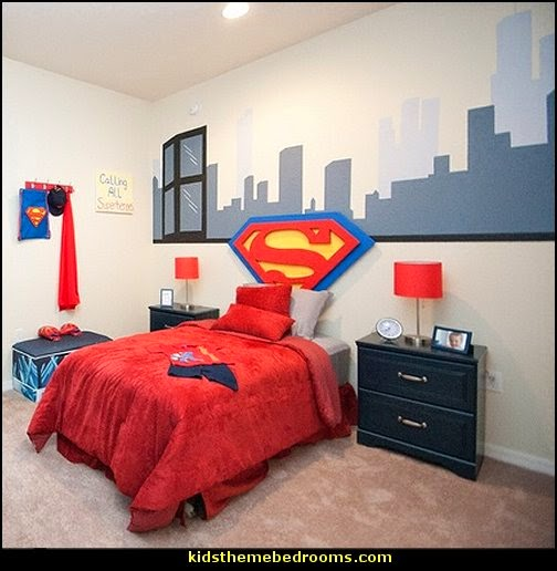 superman theme bedroom decorating ideas kids theme bedrooms superman