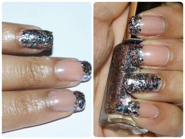 Sally Hansen Nude Now, L'oreal Color Riche Sequin Explosion, L'oreal Sequin Explosion