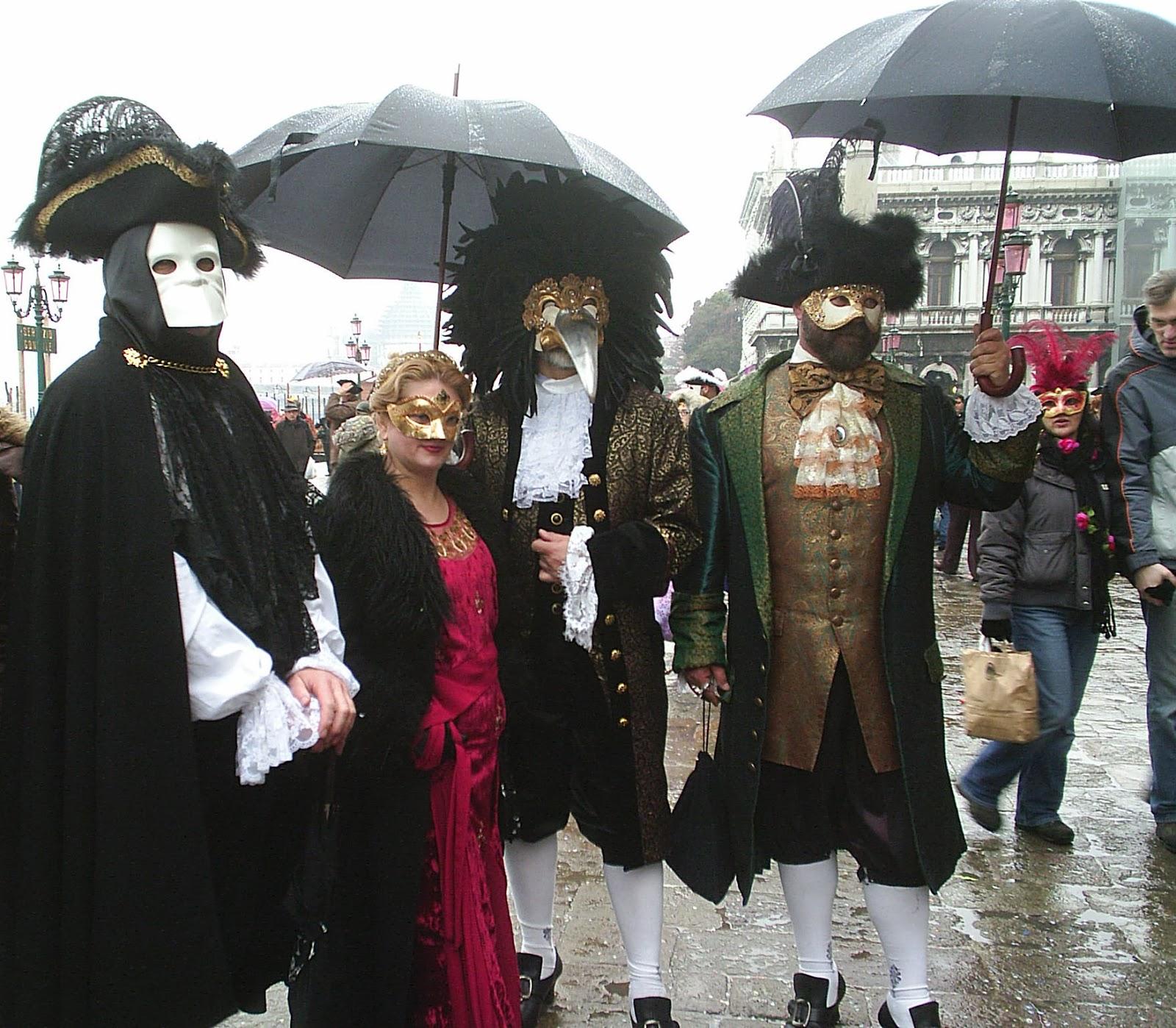 Paraguas en el Carnaval de Venecia