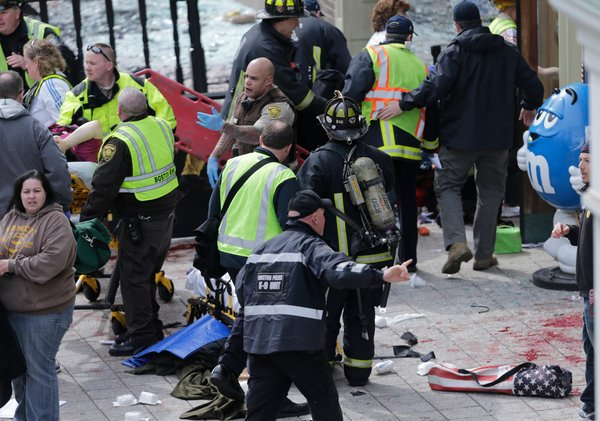 Boston Marathon - Explosion