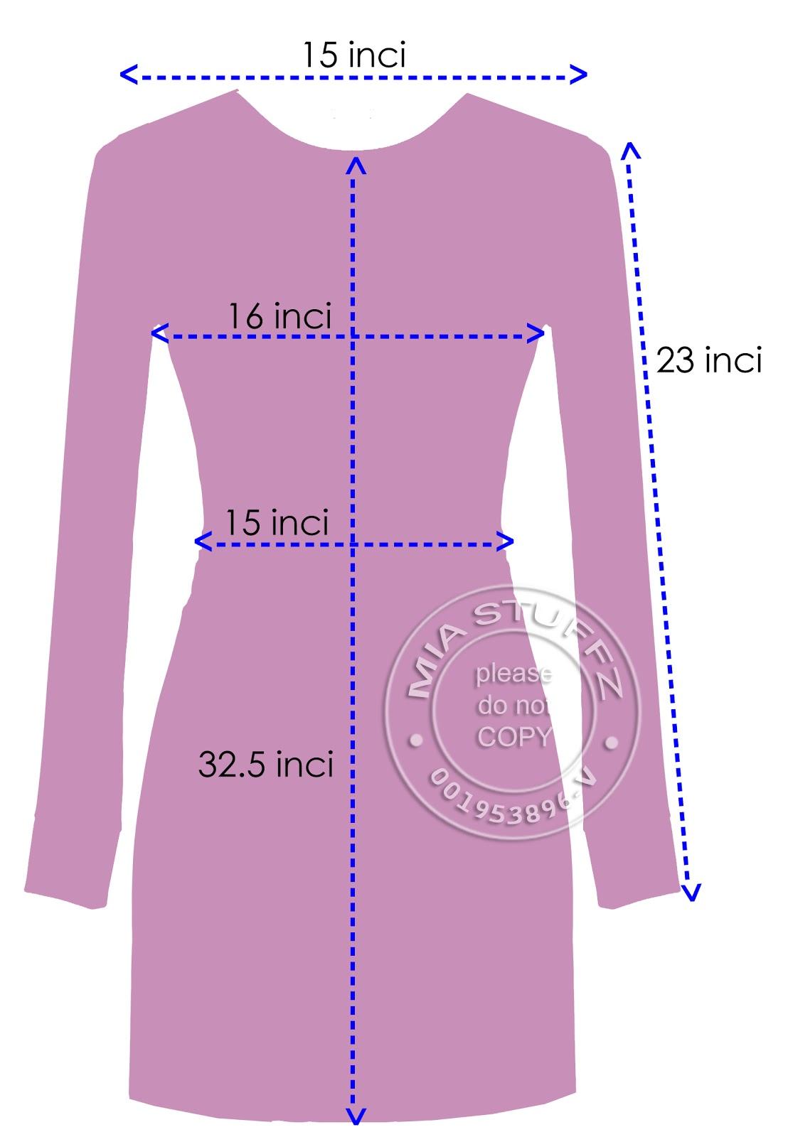 Lihat measurement diatas sebelum membeli. Click picture to enlarge.
