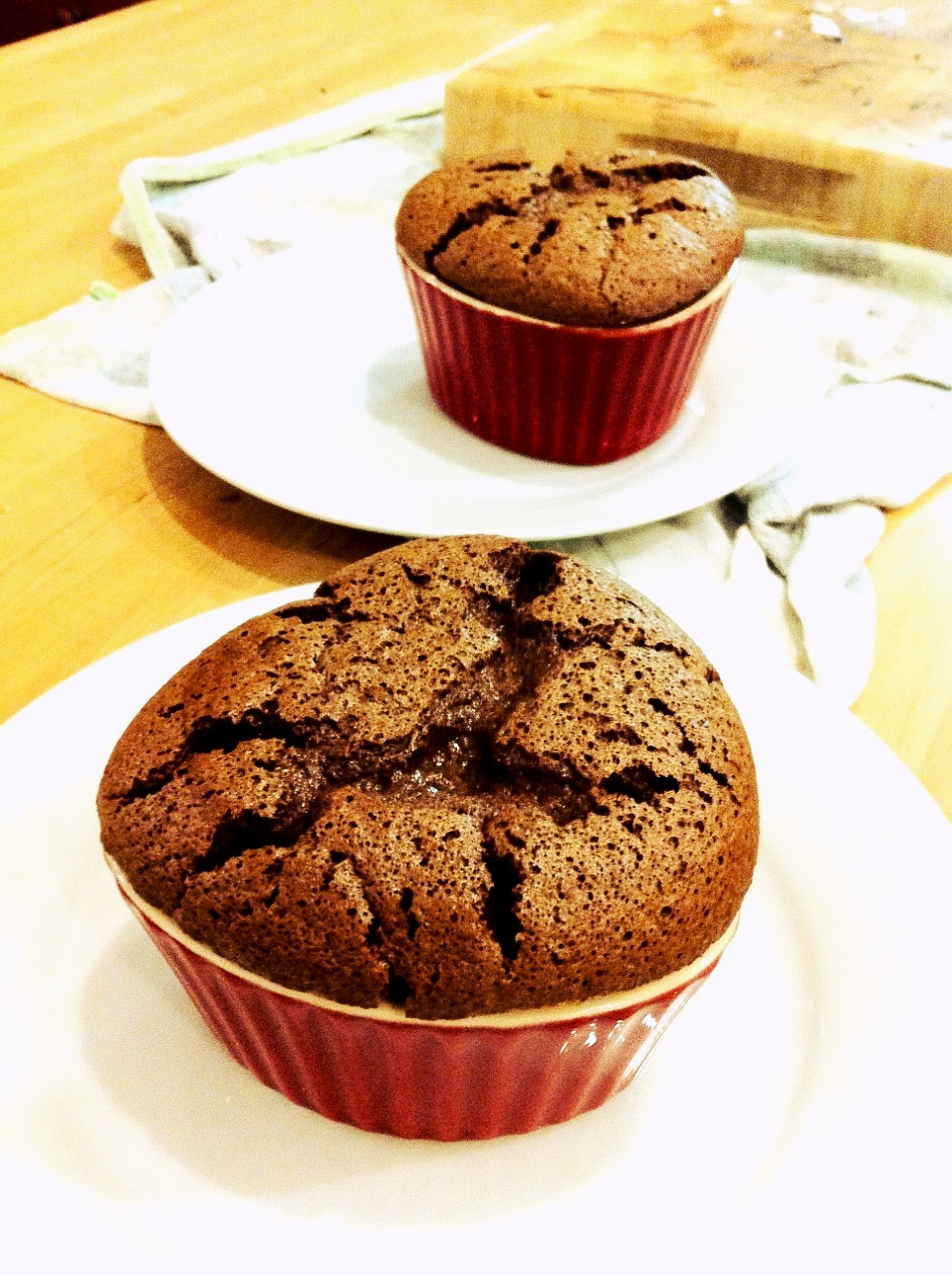 Individual Chocolate Soufflés for two!