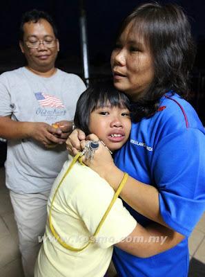 Penjenayah, larikan, budak, Toyota Wish, Kuching, Sarawak, Jalan Matang, Cheyanne Michcal, 8, Jenayah, Malaysia