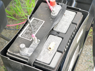 Innovative Camper We Utilized The Front Tool Box Amp Constructed An Electric Panel