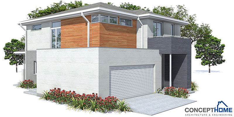 Affordable home plans affordable modern house plan ch111 for Affordable garage plans