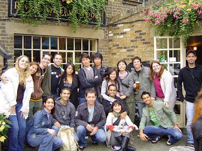 Friends from Wimbledon Academy at a Halloween gathering