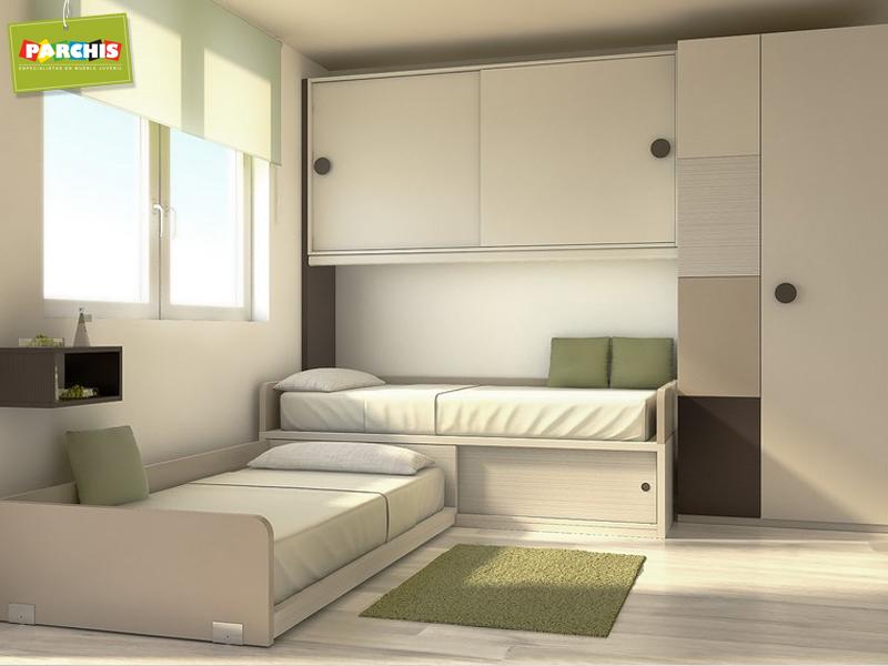 Muebles juveniles dormitorios infantiles y habitaciones - Camas tren para ninos ...