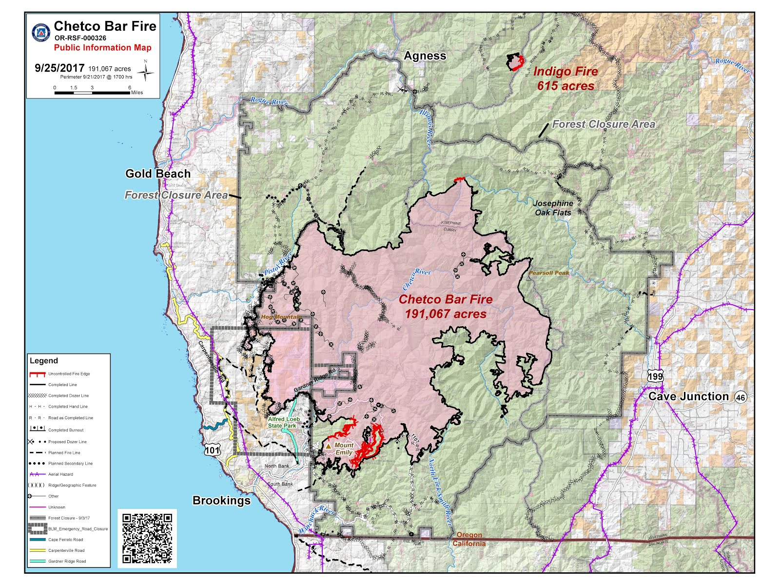 temporary flight restrictions tfr are in effect over the chetco bar fire area before flying near the area pilots are encouraged to check for the most