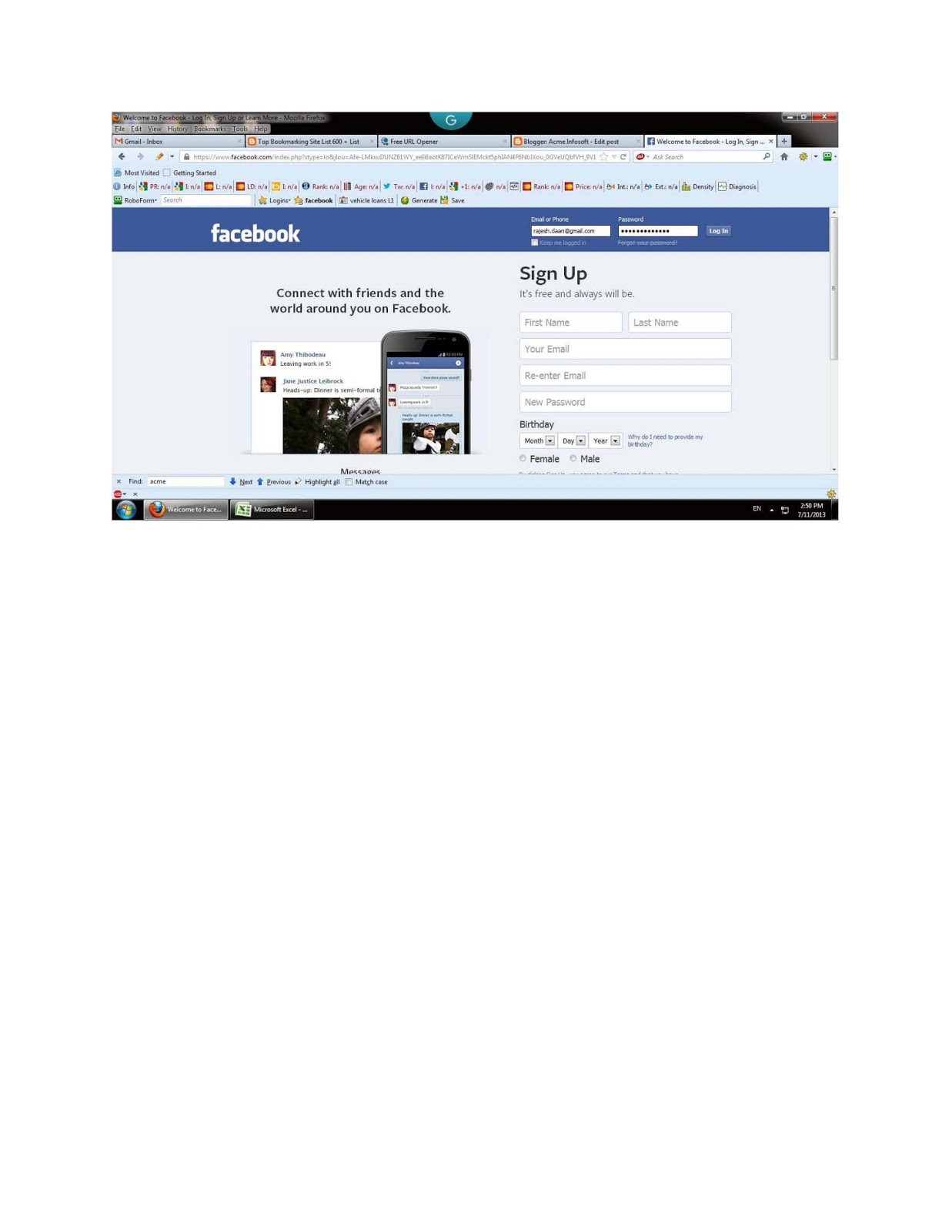 how to get fake facebook page like step 1 login your facebook account