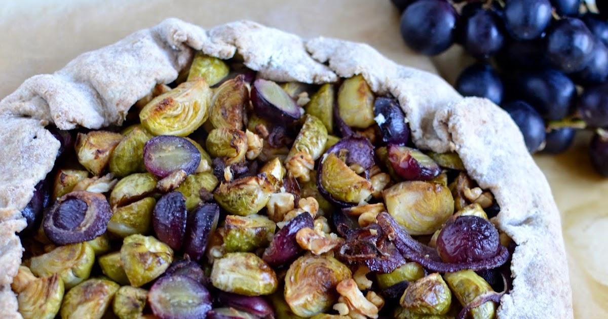 Vegane Rosenkohl - Galette mit Weintrauben = Vegan ...