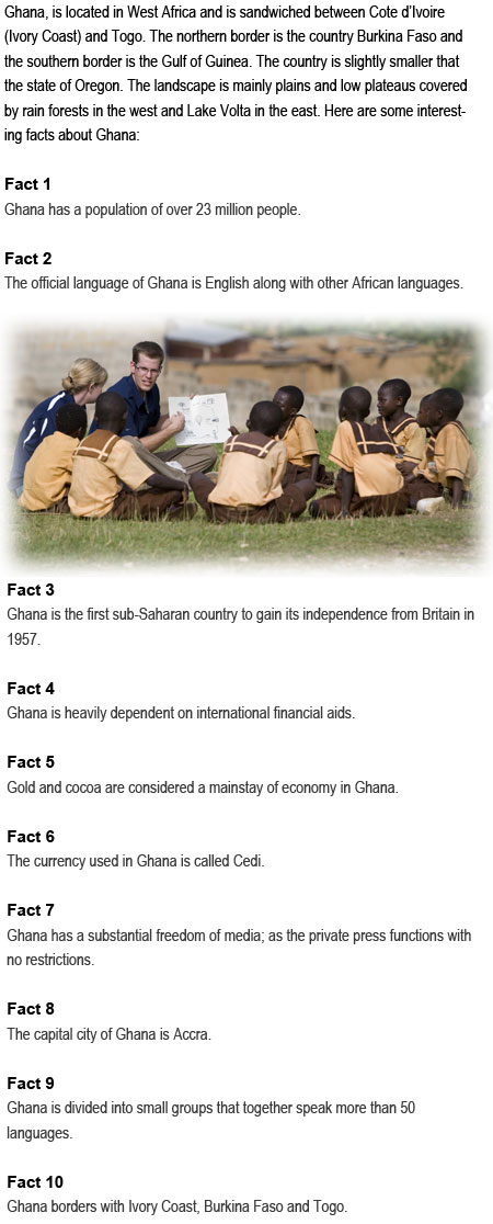 Facts about Ghana for kids