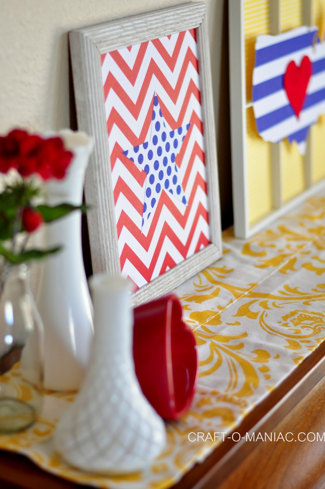 Home decor patriotic piano craft o maniac for Patriotic home decorations