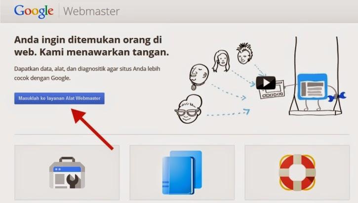 Gambar Tampilan Awal Webmaster Tolls Google