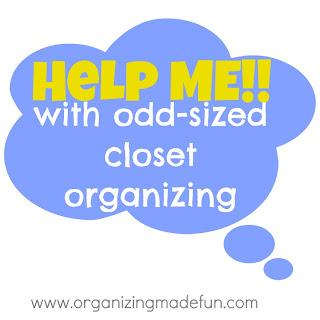 Organizing closet odd size help