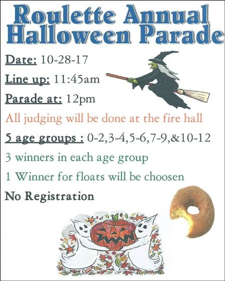 10-28 Roulette Annual Halloween Parade
