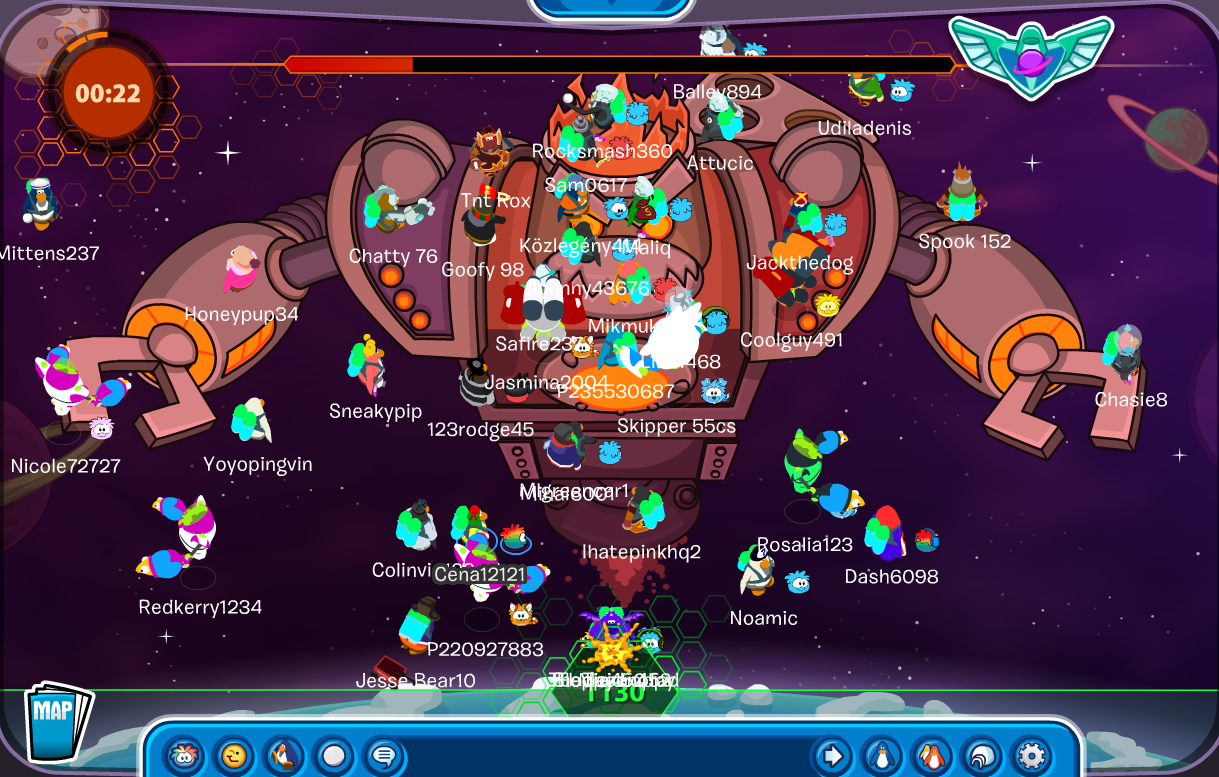 Club Penguin Future Party Ultimate Protobot Destroy