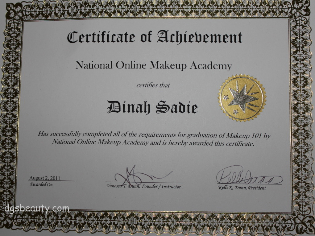 National Online Makeup Academy (NOMA) Completion | D.G.S.Beauty