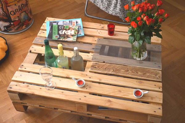 Diy palette blog mode lyon sauce mode - Table basse avec palette en bois ...