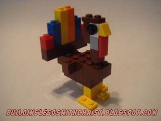 LEGO creation, Turkey, LEGO Turkey, LEGO Thanksgiving