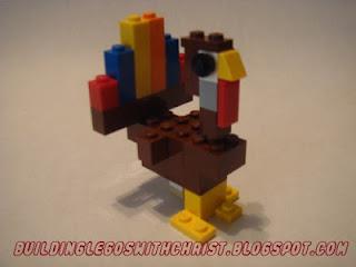 LEGO creation, Turkey, LEGO Turkey, LEGO Thanksgiving