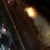 Carro pega fogo na avenida Moraes Sales, no Centro de Campinas, SP