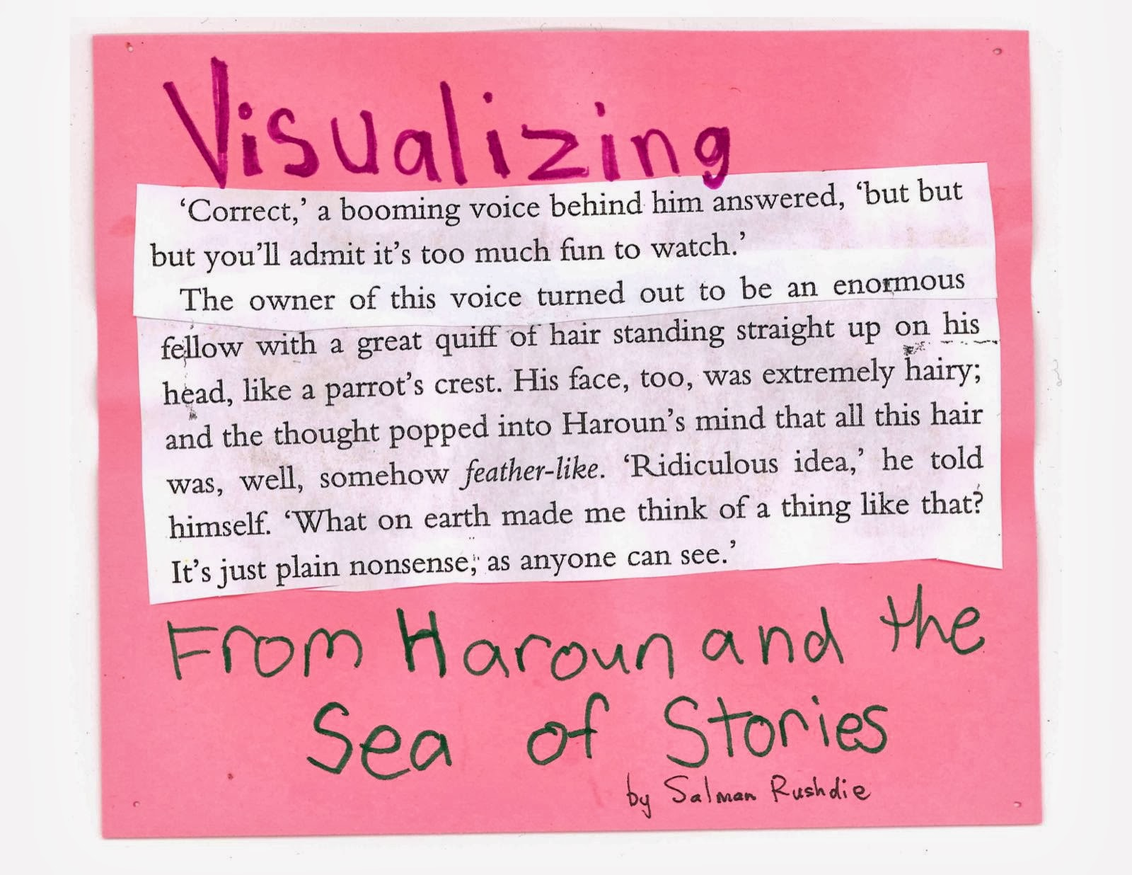 haroun and the sea of stories essay questions