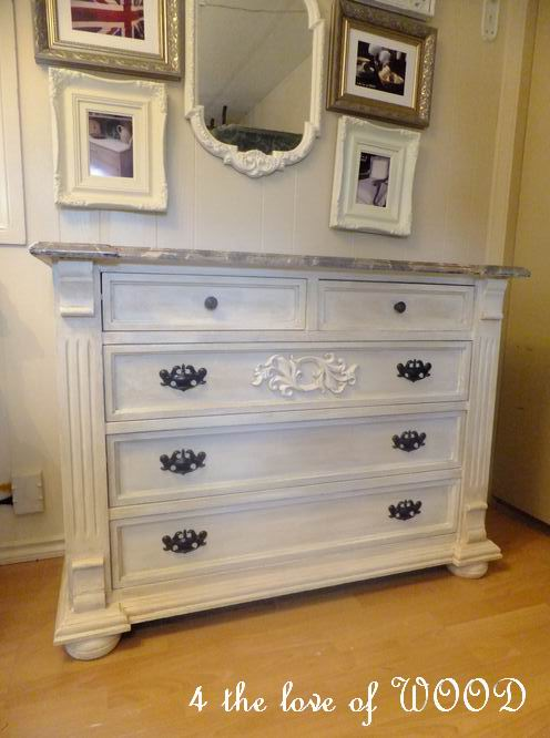 4 The Love Of Wood Faux Marble Masterpiece Old Dresser Makeover