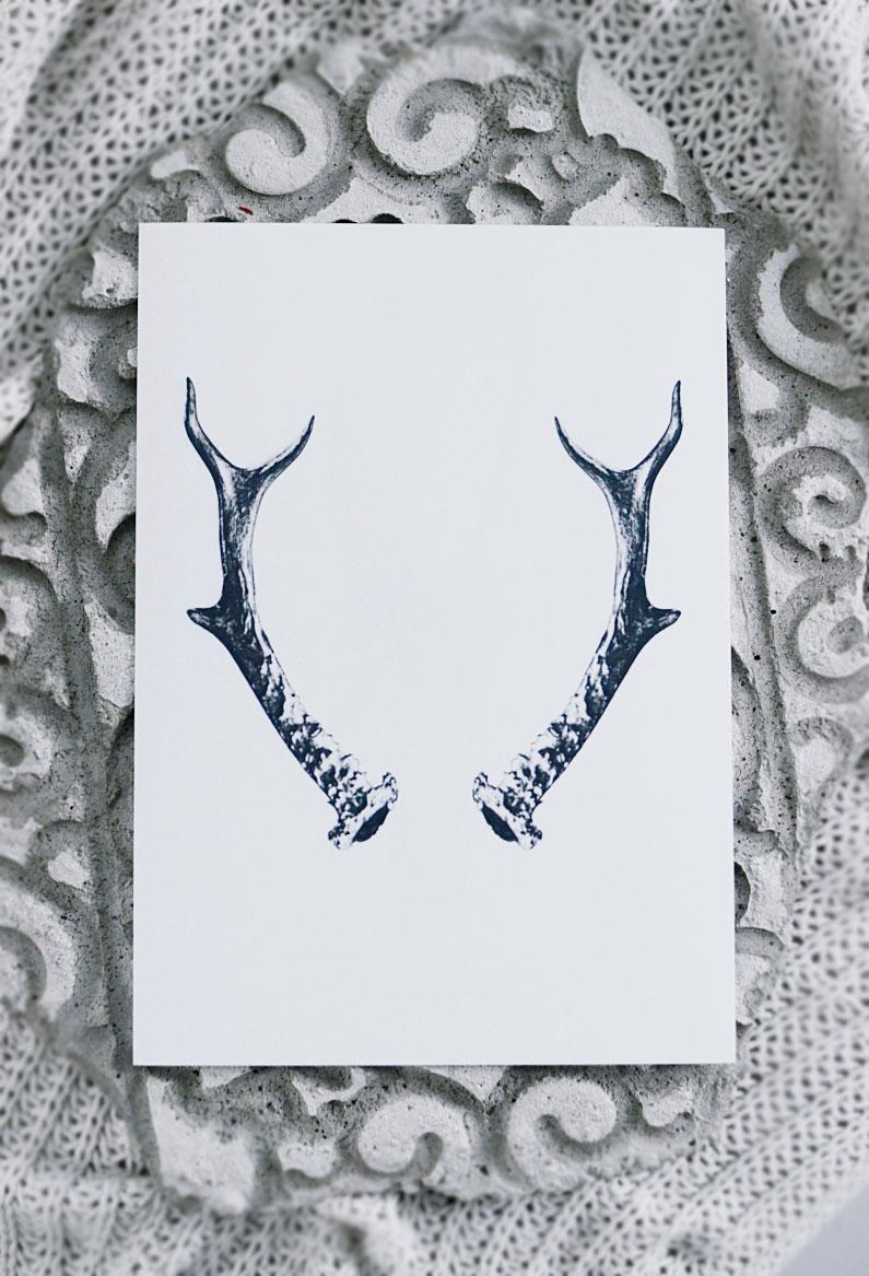 print, poster, art print, jul, horn, christmas