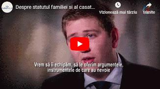 TVR 1: Despre statutul familiei și al căsătoriei în legislația europeană