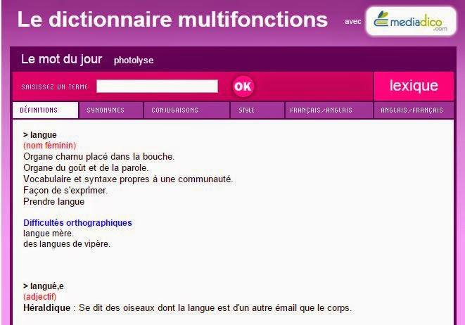 Dictionnaire TV5.org  قاموس القناة الخامسة الفرنسية