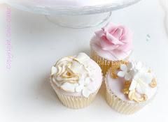 Cupcake rosa e oro