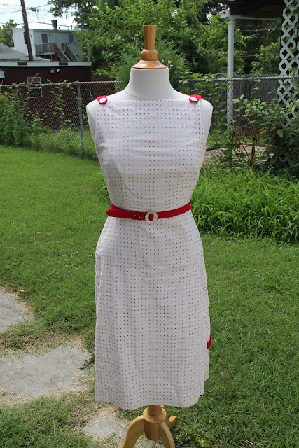 White and red wiggle dress