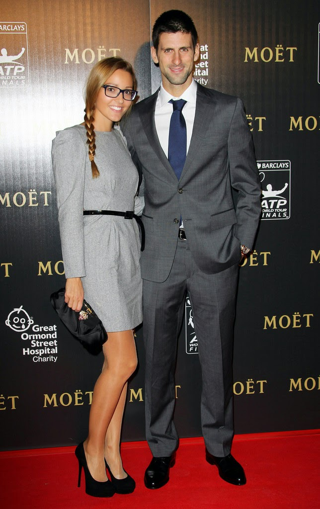 Before and after many of the major points in Andy Murray's win over Novak Djokovic yesterday, ESPN cameras cut to Murray's girlfriend Kim Sears. Besides Murry and Djokovic, Sears probably got the third-most airtime of the Wimbledon final. Here's everything you need to know about her. Novak Djokovic And Jelena Ristic Reportedly Engaged. The Serbian media is reporting that number one tennis player Novak Djokovic and his girlfriend of eight years Jelena Ristic are engaged. Djokovic reportedly proposed to Jelena a couple of days ago in Monte Carlo. Novak Djokovic's Girlfriend Is The Most Intense Fan In Tennis. Tennis Player Novak Djokovic and Jelena Ristic attend the 2012 Laureus World Sports Awards at Central. Novak's Djokovic's girlfriend Jelena Ristic is everything you want in a significant other. She's smart (she's the director of the Novak Djokovic Foundation). She's beautiful (obviously). Novak Djokovic's Girlfriend Is The Most Intense Fan In Tennis. Novak's Djokovic's girlfriend Jelena Ristic is everything you want in a significant other. She's smart (she's the director of the Novak Djokovic Foundation). She's beautiful (obviously).
