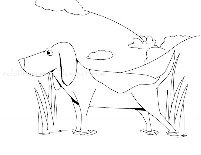 Beagle Puppy Coloring Pages